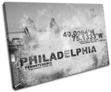 Philadelphia USA City Typography - 13-2123(00B)-SG32-LO